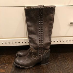 Brown Leather Frye Boots